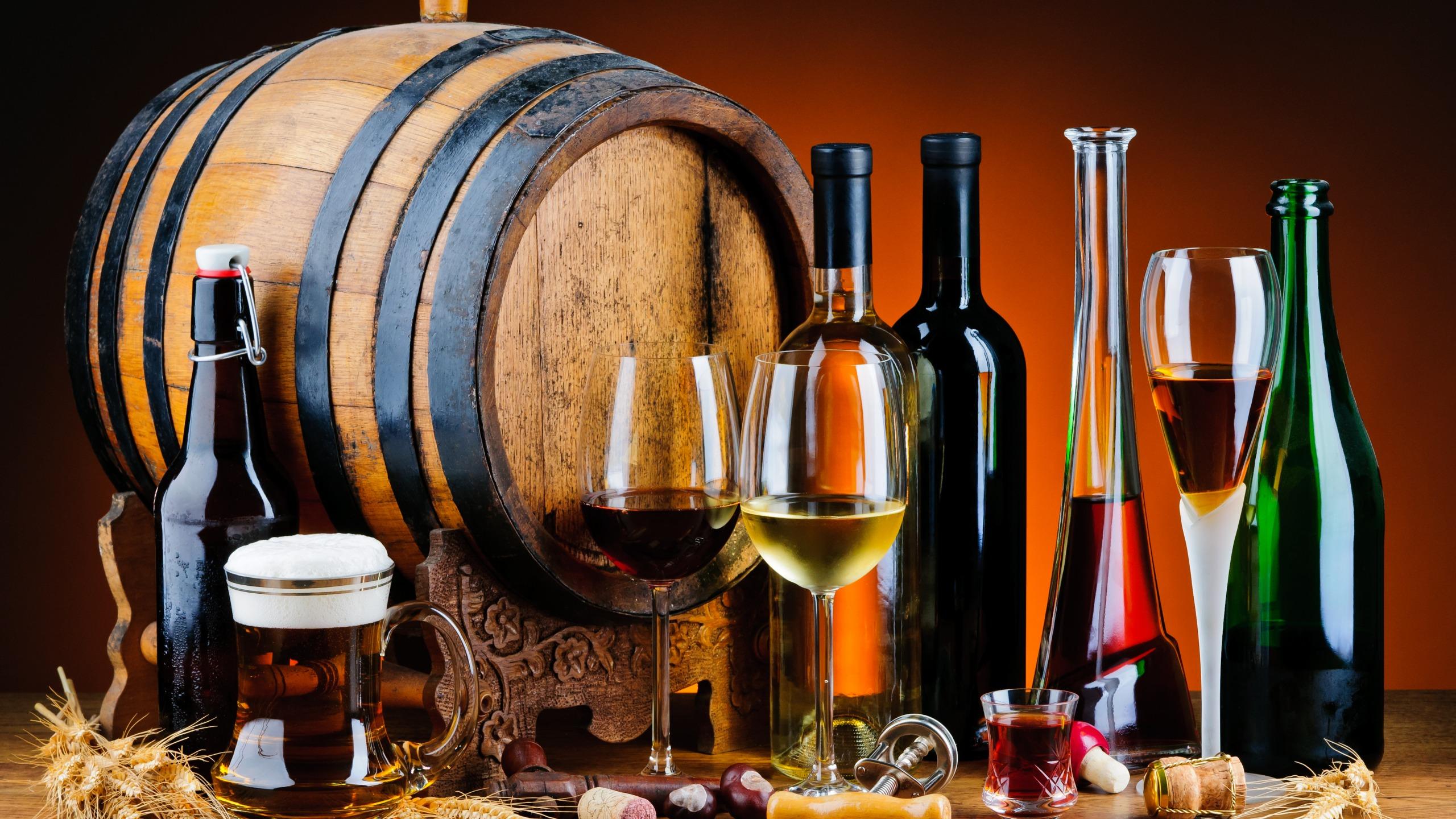 Алкогольные напитки - История: пива,шампанского, вина, виски